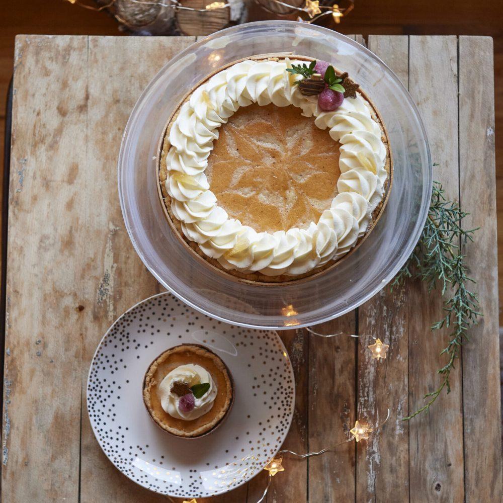 Pumpkin Candied Ginger Cheesecake